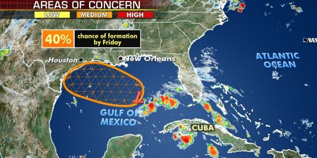 Another tropical wave in the Gulf of Mexico may develop by later this week.