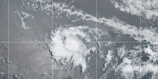Tropical Storm Gonzalo formed Wednesday morning out over the Atlantic Ocean.