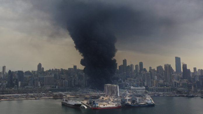 Huge Fire At Beirut's Port Causes Panic Following Last Month's Explosion : NPR