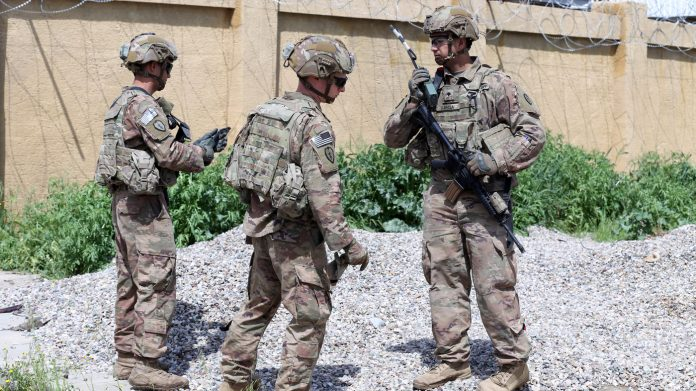 U.S. Says It Will Cut Number Of Troops In Iraq By Nearly Half This Month : NPR
